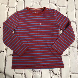 Mini Boden long sleeve striped tee size 7-8 years
